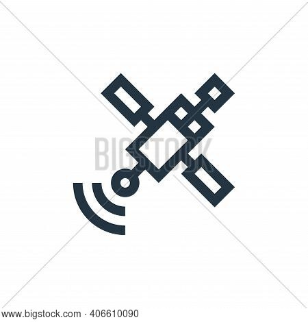 satellite icon isolated on white background from news collection. satellite icon thin line outline l