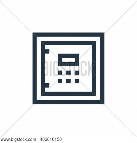 safe box icon isolated on white background from insurance collection. safe box icon thin line outlin