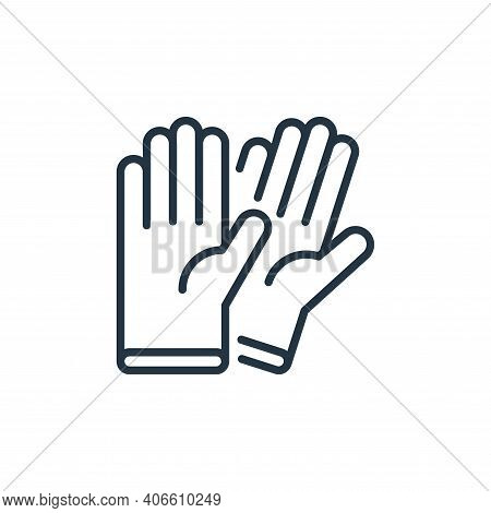 rubber gloves icon isolated on white background from stop virus collection. rubber gloves icon thin