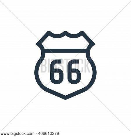 route icon isolated on white background from united states of america collection. route icon thin li
