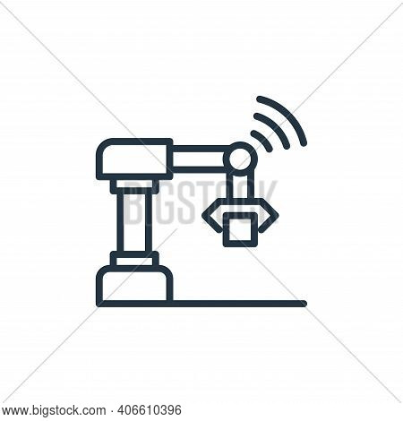robot icon isolated on white background from internet of things collection. robot icon thin line out