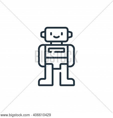 robot icon isolated on white background from children toys collection. robot icon thin line outline