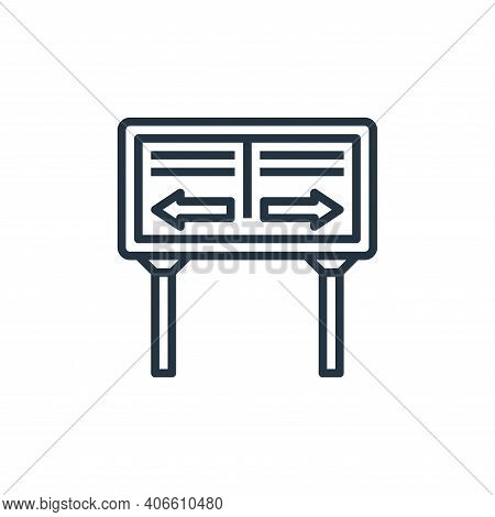 road sign icon isolated on white background from motorway collection. road sign icon thin line outli