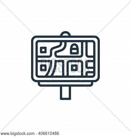 road map icon isolated on white background from motorway collection. road map icon thin line outline