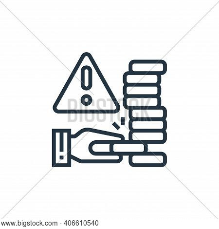 risk icon isolated on white background from business risks collection. risk icon thin line outline l