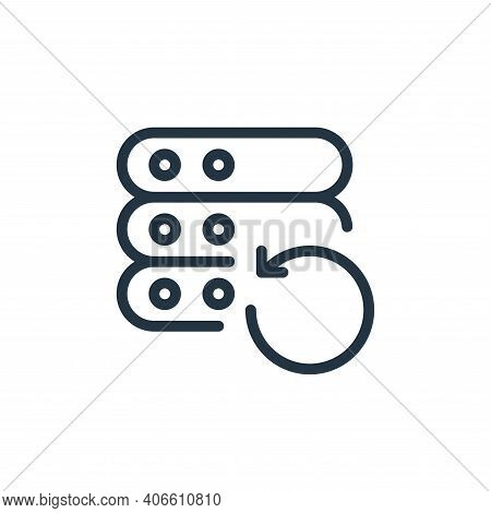 reload icon isolated on white background from work office server collection. reload icon thin line o