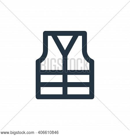reflective vest icon isolated on white background from labour day collection. reflective vest icon t