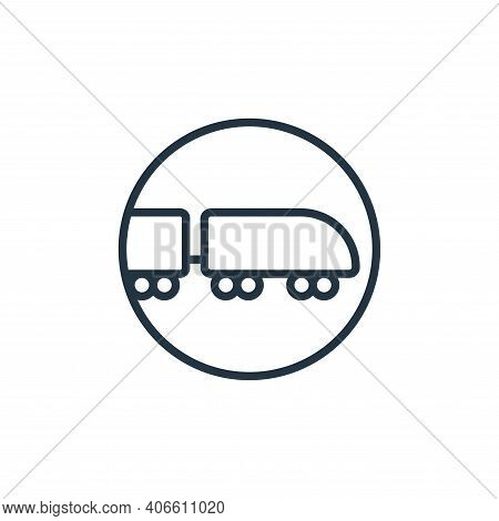 railway icon isolated on white background from stop virus collection. railway icon thin line outline