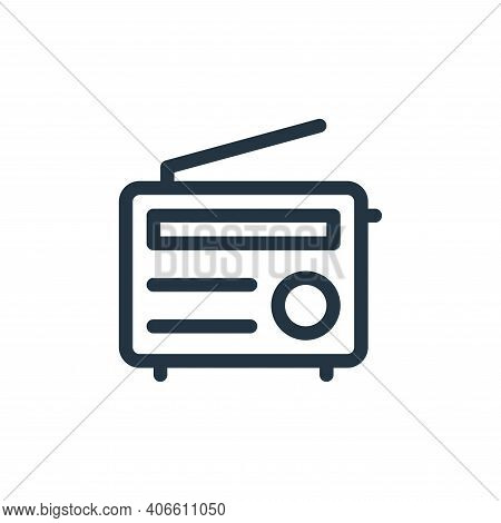 radio icon isolated on white background from electronics collection. radio icon thin line outline li