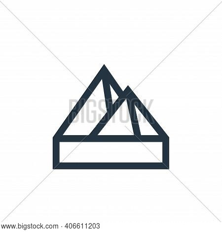 pyramid icon isolated on white background from history collection. pyramid icon thin line outline li