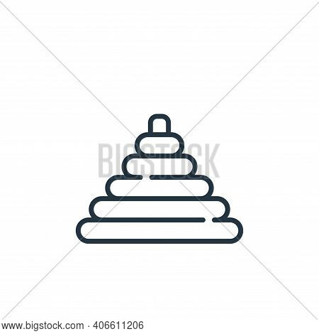pyramid icon isolated on white background from children toys collection. pyramid icon thin line outl