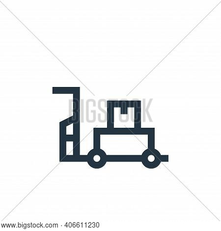 pushcart icon isolated on white background from industrial process collection. pushcart icon thin li