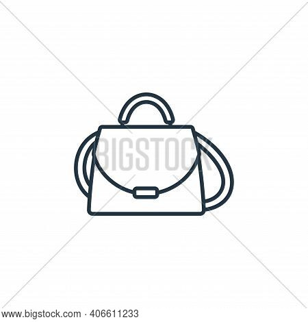 purse icon isolated on white background from clothes and outfit collection. purse icon thin line out