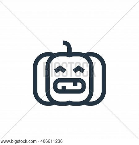 pumpkin icon isolated on white background from united states of america collection. pumpkin icon thi