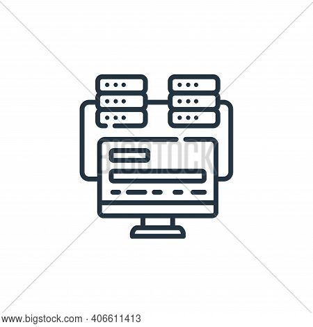 programming icon isolated on white background from hacker collection. programming icon thin line out