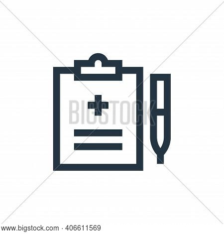 prescription icon isolated on white background from pharmacy collection. prescription icon thin line