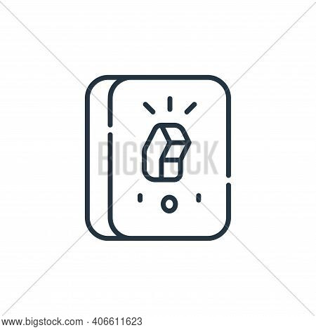 power switch icon isolated on white background from electrician tools and elements collection. power