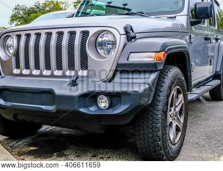 Cumming, Georgia - January 11, 2021: Jeeps Current Product Range Consists Solely Of Sport Utility Ve