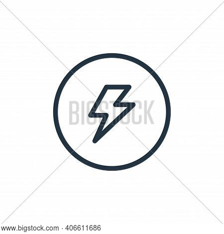 power icon isolated on white background from photography collection. power icon thin line outline li