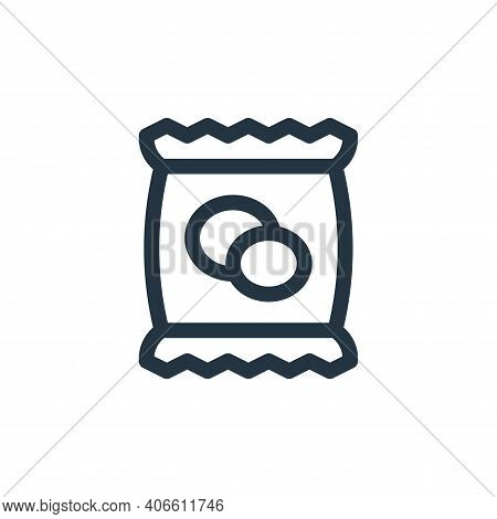 potato chips icon isolated on white background from gastronomy collection. potato chips icon thin li