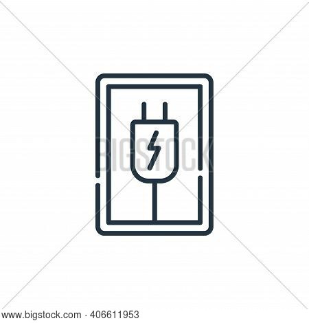 plug icon isolated on white background from signals and prohibitions collection. plug icon thin line