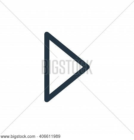 play button icon isolated on white background from user interface collection. play button icon thin