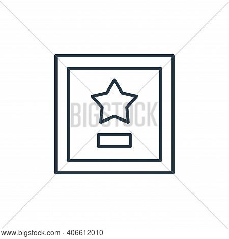 plaque icon isolated on white background from leadership collection. plaque icon thin line outline l