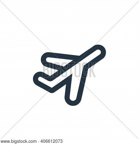 plane icon isolated on white background from device collection. plane icon thin line outline linear
