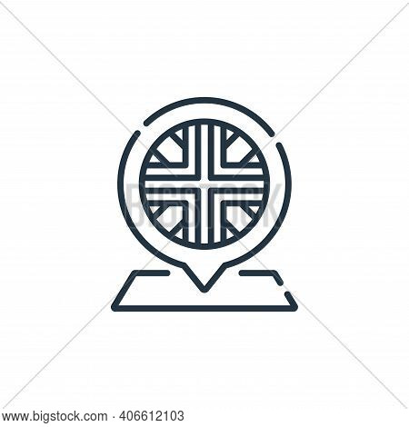placeholder icon isolated on white background from england collection. placeholder icon thin line ou