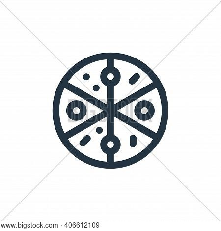 pizza icon isolated on white background from gastronomy collection. pizza icon thin line outline lin