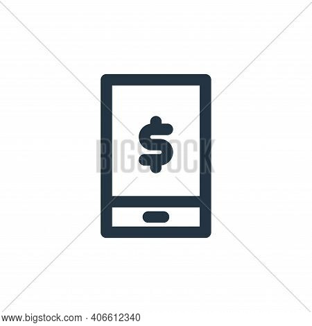 phone icon isolated on white background from marketing business collection. phone icon thin line out