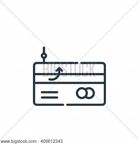 phishing icon isolated on white background from hacker collection. phishing icon thin line outline l