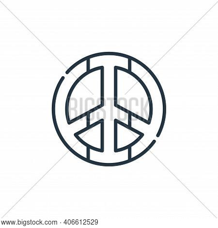 peace icon isolated on white background from reggae collection. peace icon thin line outline linear