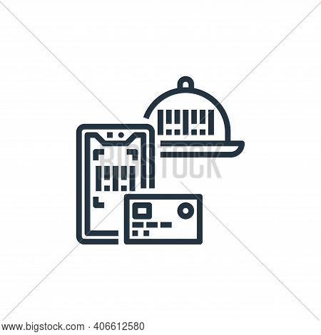 payment method icon isolated on white background from food delivery collection. payment method icon