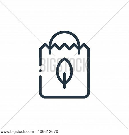 paper bags icon isolated on white background from ecology collection. paper bags icon thin line outl