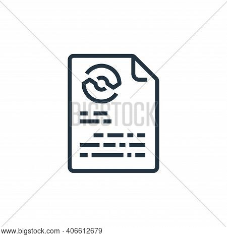 paper icon isolated on white background from recycling collection. paper icon thin line outline line