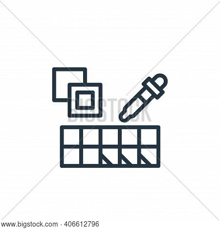 paint swatch icon isolated on white background from graphic design collection. paint swatch icon thi