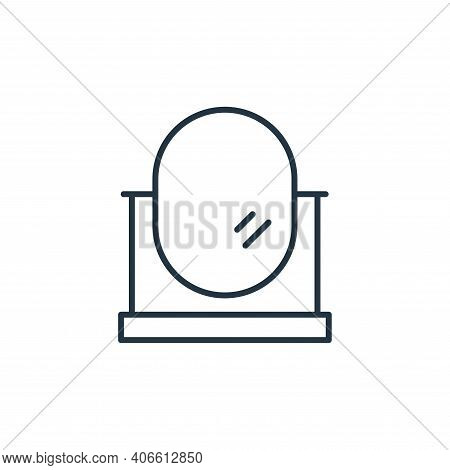 oval mirror icon isolated on white background from interiors collection. oval mirror icon thin line