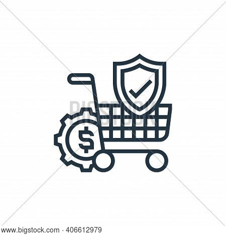 online purchase icon isolated on white background from payment element collection. online purchase i