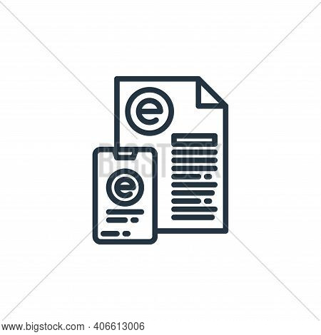 online learning icon isolated on white background from elearning collection. online learning icon th