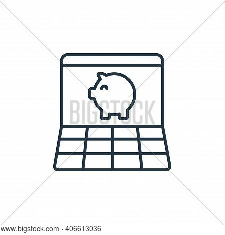 online banking icon isolated on white background from retirement collection. online banking icon thi