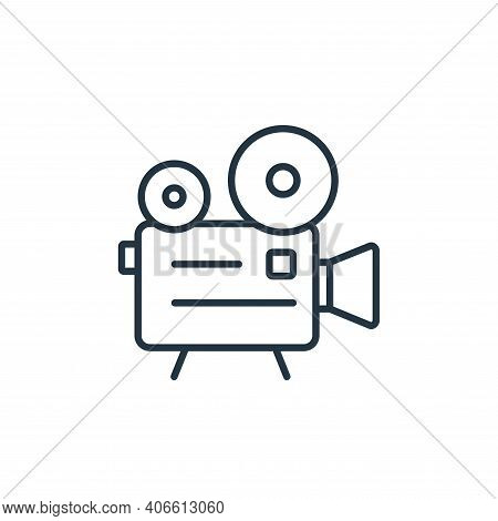 old video camera icon isolated on white background from cinema collection. old video camera icon thi