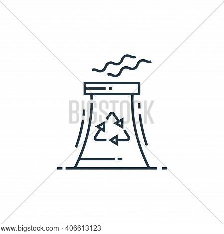 nuclear energy icon isolated on white background from environment and eco collection. nuclear energy