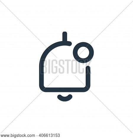 notification icon isolated on white background from user interface collection. notification icon thi