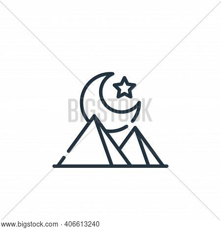 night icon isolated on white background from desert collection. night icon thin line outline linear