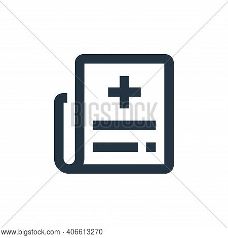 newspaper icon isolated on white background from medical kit collection. newspaper icon thin line ou