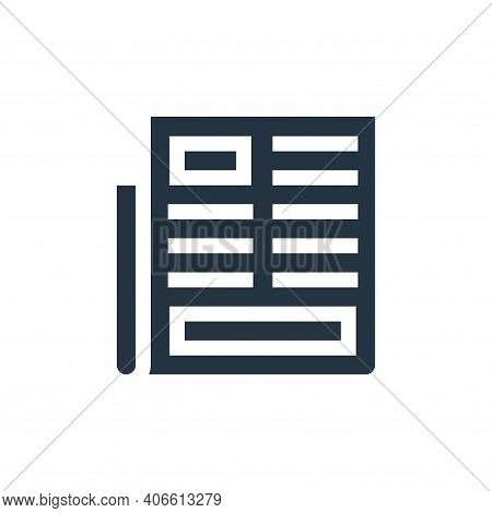 newspaper icon isolated on white background from advertisement collection. newspaper icon thin line