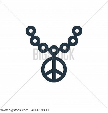 necklace icon isolated on white background from hippies collection. necklace icon thin line outline