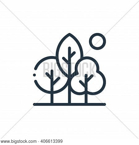 nature icon isolated on white background from ecology collection. nature icon thin line outline line