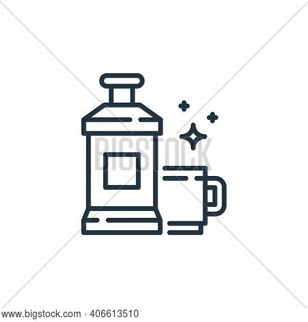 mouthwash icon isolated on white background from hygiene routine collection. mouthwash icon thin lin